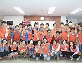한국타이어 자원봉사자 단체 사진