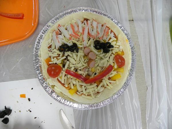 완성된 음식 모습