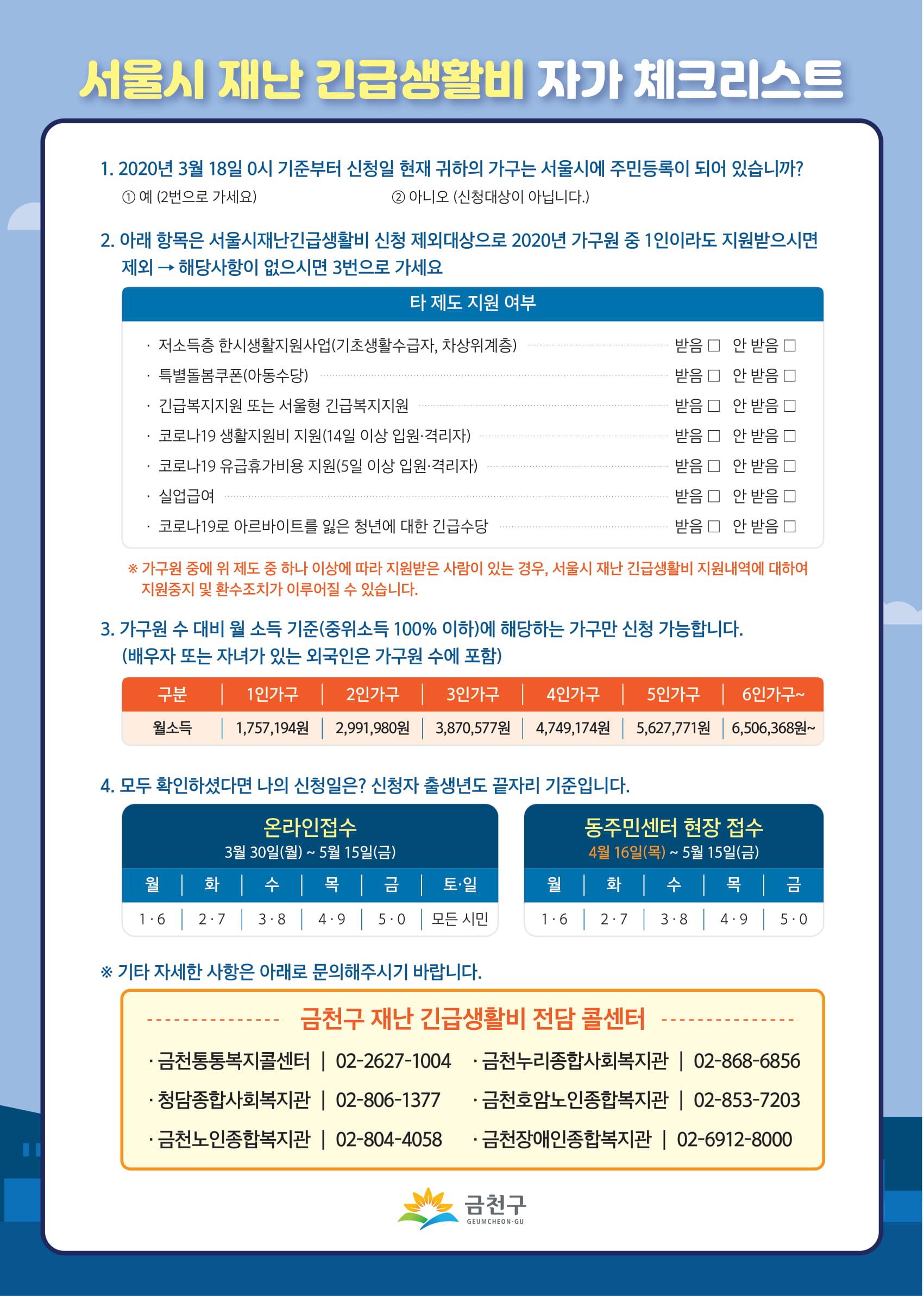 서울시재난긴급생활비